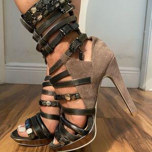 Gladiator style heels